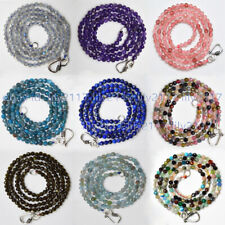 Lots Natural Multi-Color 3mm Faceted Mixed Gemstone Round Beads Necklace 16-28''