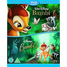 Bambi 1 & 2 Region Free Blu-ray Walt Disney Animated Cartoon Collection Lot Set