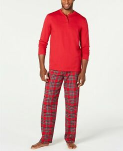 $39 Family Pajamas Matching Men's Mix It Brinkley Plaid Pajama Set Medium