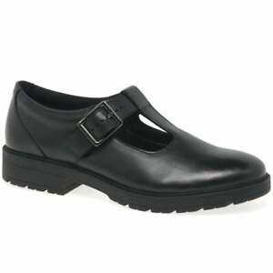 Clarks Loxham Shine Girls Senior School Shoes