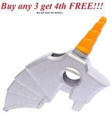 ☀️NEW Lego Friends Animal Metallic Silver Horse Battle Helmet Unicorn With Horn