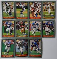 1999 Topps New York Giants Team Set of 11 Football Cards