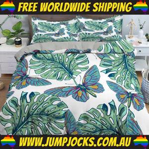 Butterflies & Leaves Bedspread Set - Duvet Cover *FREE WORLDWIDE SHIPPING*