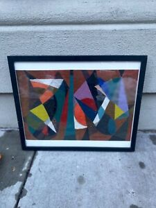 MARTIN ROSENTHAL ABSTRACT EXPRESSIONIST MODERN OIL VISIONARY