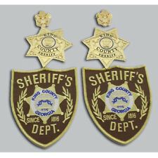 The Walking Dead King County Sheriff Badges &DEPT Patches & Collar Pins