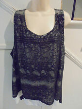 AUTOGRAPH NWOT SIZE 26 BLACK LACE CREAM SATIN LINED TOP EVENING SPECIAL OCCASION