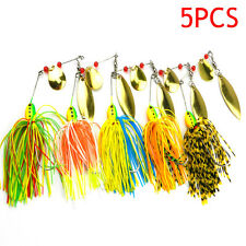 5Pcs Fishing Hard Spinner Lure Spinnerbait Pike Bass Crankbaits Baits