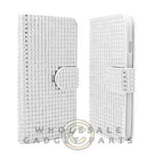 Apple iPhone 6/6s Wallet Pouch Soft Gel Diamond Look White  Case Cover Shield
