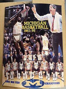 1985 1986 Michigan Wolverines Basketball Press Media Guide Yearbook Vintage NCAA