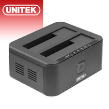 UNITEK Dual Bay Hard Drive Docking Station USB3.0 to SATA Offline Clone Function