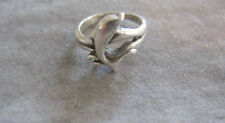 Wonderful Vintage Sterling Silver Sarah Coventry Dolphin Ring Size 4.5