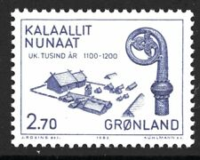 Greenland 1982 Staff and House Mint Unhinged