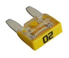 10 fusibles 20A jaune mini 11.9mm 6V 12V 24V 36V pour auto moto voiture camion