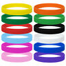 12/60 Lot GOGO Kids Silicone Wristband Pack Sports Gym Rubber Bracelet, 1/2 Inch