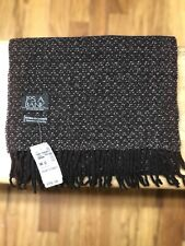 New Jos A Bank Wool And Cashmere Quality Blend Knit Scarf - Brown Retail $79.50