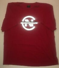 Vintage Nautica Competition 3M Reflective Spellout Red Tshirt Sz Mens XXL 2XL