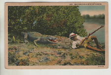 295 Waiting for a Bite in Florida Black Americana Postcard 1939 FL