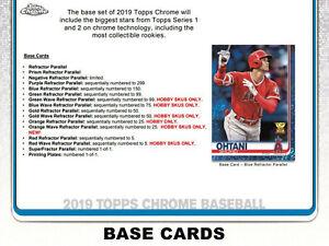 2019 Topps Chrome Baseball **Team Sets** - Quick & Safe Shipping / Bulk Discount