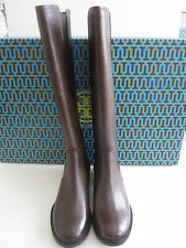 $495 BNIB Tory Burch CHRISTY 30mm TUMBLED LEATHER Riding Boots Coconut sz 6 US