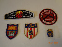 Estate Lot of 5 Vintage Boy Scouts of America Patches - Atlanta Area Council