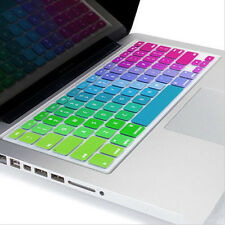 Silicone Rainbow Keyboard Covers Skin for laptops Macbook Air Pro13