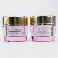 2x Estee Lauder RESILIENCE Multi-Effect Tri-Peptide Face Neck Creme SPF15 15ml