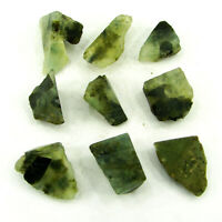 300.00 Ct Natural Raw Green Prehnite Loose Gemstone Rough Crystal 9 Pcs Lot-7485