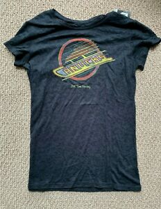 Old Time Hockey Vancouver Canucks Valerie Burnout T-Shirt! NHL Ladies Women's