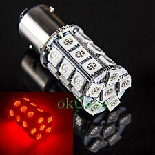 2 x Xenon Red 1157 Bay15d 27-SMD 5050 LED Tail Brake Stop Signal Light Bulb 12V