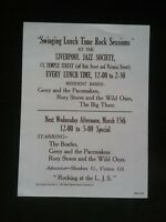 THE BEATLES : LIVERPOOL JAZZ SOCIETY FLYER 1961  *(SEE DESCRIPTION AND PHOTO'S)*