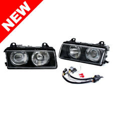 BMW E36 3-SERIES HELIX/DEPO ZKW TYPE EURO PROJECTOR HEADLIGHTS W/ GLASS LENSES