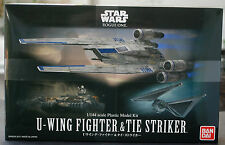 Star Wars u-Wing fighter & Tie Striker Rogue, 1:144, Bandai 212184 nuevo 2017