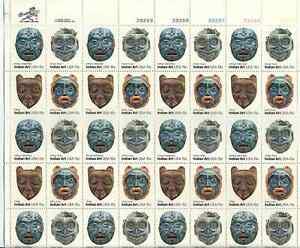 Scott #1834/7...15 Cent...Indian Art...Sheet of 40 Stamps