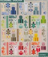 Awesome Ocean - pieced quilt PATTERN in 2 sizes - Elizabeth Hartman