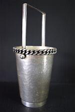 Bucket Ice Jean Despres Metal Silver Brassware Xx Art Deco 1950 Modernist