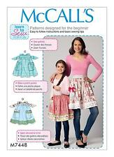 McCalls Easy SEWING PATTERN M7448 Misses & Girls Aprons Learn To Sew For Fun