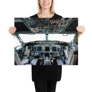 """Boeing 737 Flight Deck - 18"""" x 24"""" Poster"""