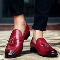 Mens Shoes Pointed Toe Oxford Slip On Business Dress Formal Shoes Tassels Muk15