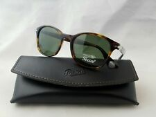 b2fd11cdfdfe8 PERSOL 3150-S 24 31 HAVANA FRAME GREEN LENS SUNGLASSES HAND MADE IN ITALY