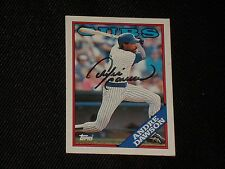 HOF ANDRE DAWSON 1988 TOPPS SIGNED AUTOGRAPHED CARD #500 CHICAGO CUBS