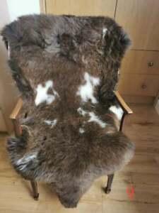 Genuine 100% Real Sheepskin Rug Luxury Fur Natural Wool Size: approx. 110cm/60cm