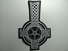 CELTIC CROSS  EMBROIDERED BACK PATCH