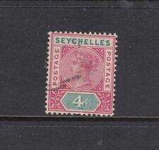 SEYCHELLES: 1890-92 QV Die I 4¢ SG 2 ₤20, fine used.