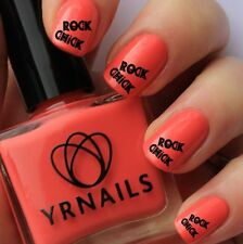Nail WRAPS Nail Art Water Transfers Decals - Rock Chick - S129