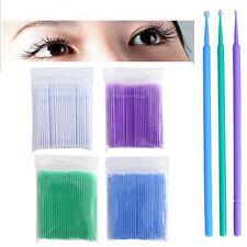 100 Pcs Micro Brush Disposable Microbrush Applicators Eyelash Extensions Swab<