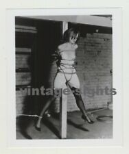 Art Of Ropes 1: Semi Nude Attached To Wood Pole / BDSM (Vintage Photo)