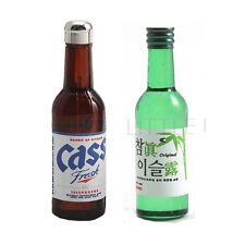 "2Pcs Bottles Dollhouse Miniature Kitchen Dining Decor Korea Drink ""Soju"" & Beer"