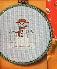 PUTTING ON THE SNOW Cross Stitch pattern from magazine PENGUIN / SNOWMAN