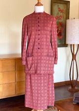 60s Geoffrey Beene Wool Dress Set 1960s Designer Vintage Check Skirt Top Jacket