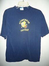 Sponge Bb Square Pants Navy blue T shirt Ripped Pants SZ L